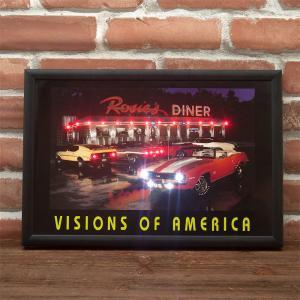 LED アメリカン ピクチャー 電照板 壁掛け 「Rosies」 dream-f