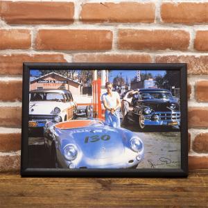 LED アメリカン ピクチャー 電照板 壁掛け 「オープンカー」ポルシェ dream-f