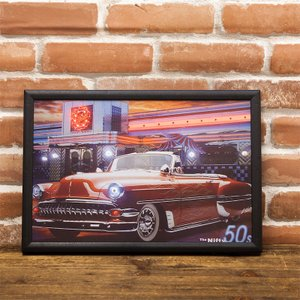 LED アメリカン ピクチャー 電照板 壁掛け 「Nifty」クラッシクカー dream-f