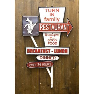 アメリカン スタイル ウォールデコ 「レストラン 看板」 dream-f
