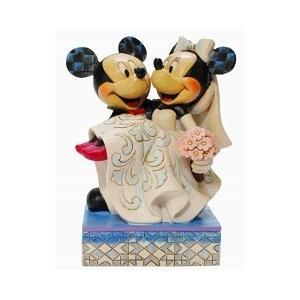 ミニーマウス フィギュア ミッキーとミニー ウエディング ハンドペイント<ディズニートラッディション>|dream-f
