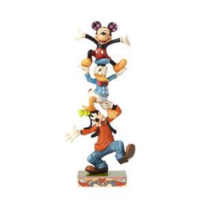ミニーマウス フィギュア ミッキーと仲間達 トーテムポール ハンドペイント<ディズニートラッディション>|dream-f