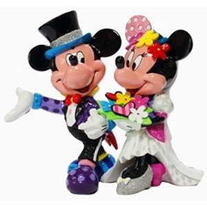 ミッキーとミニーマウス フィギュア ウエディング BRITTO<ディズニーコレクション ブリット>|dream-f