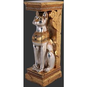 古代エジプト・神聖なネコ(猫)コラム【2体セット】 ビッグフィギュア(等身大フィギュア)|dream-f