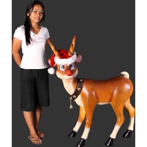 楽しいトナカイ・ クリスマス(等身大フィギュア)          ※この商品は別途送料かかります、ご注文後お知らせいたします|dream-f