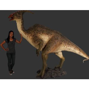 長さ299cm!パラサウロロフス(恐竜等身大フィギュア)       ※この商品は別途送料かかります、ご注文後お知らせいたします|dream-f
