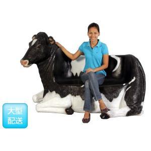 アニマルビッグフィギュアシリーズ【ウシ(乳牛)・ベンチB】(等身大フィギュア)※この商品は別途送料かかります、ご注文後お知らせいたします dream-f