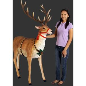 トナカイ・ロングホーンA クリスマス(等身大フィギュア)  ※この商品は別途送料かかります、ご注文後お知らせいたします |dream-f