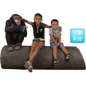 アニマルビッグフィギュアシリーズ【大木に腰掛ける チンパンジー】(等身大フィギュア)※この商品は別途送料かかります、ご注文後お知らせいたします dream-f