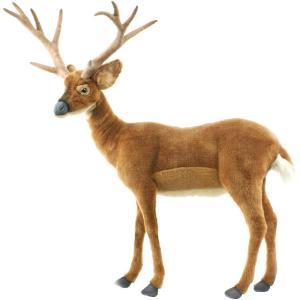 アニマルビッグフィギュアHANSAぬいぐるみ【尾白ジカ(鹿)小型 高さ:96cm】(等身大フィギュア) dream-f