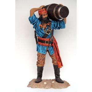 樽を運ぶパイレーツ(海賊)・等身大フィギュア|dream-f