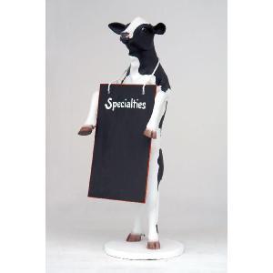 等身大フィギュア付 メニューボード・牛              ※この商品は別途送料かかります、ご注文後お知らせいたします dream-f