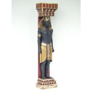 エジプタンコラム(古代エジプト石柱)【男性Ver.】 ビッグフィギュア(等身大フィギュア)|dream-f