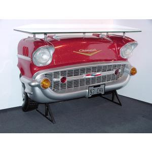 バーテーブル-Chevy-(赤ラメ)ライト点灯             ※この商品は別途送料かかります、ご注文後お知らせいたします dream-f