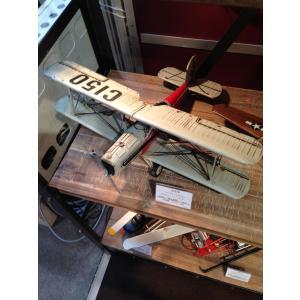 ブリキのおもちゃ 複葉機F・グレーレッド|dream-f