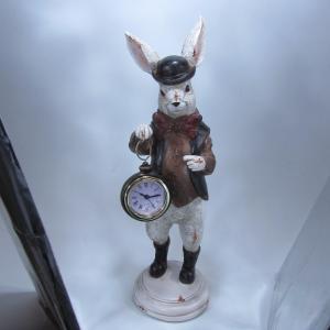 クラシック 置時計 ラビット(ウサギ)懐中時計 「ラビットA」 クロック|dream-f