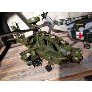 ブリキのおもちゃ AH64Dアパッチロングボウ攻撃ヘリコプター|dream-f