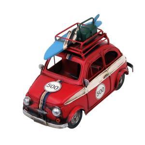 ブリキのおもちゃ コンパクトカー・500レッド|dream-f