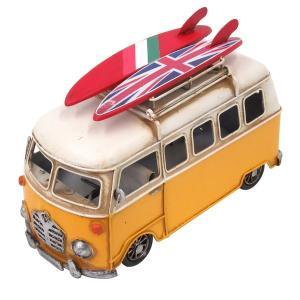 ブリキのおもちゃ キャンピングカーB イエロー|dream-f