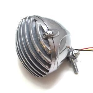 バードゲージ ヘッドライト 4.5インチ H4バルブ  (シルバー )検索用/チョッパー/ドラッグスター/カスタム/バルカン/スティード/ビラーゴ/ハーレー|dream-japan