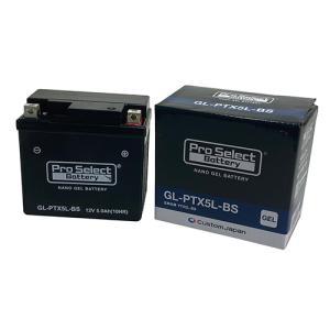 バイク バッテリー FTR スペイシー リード JOG XR アドレス /Pro Select Battery GL-PTX5L-BS (YTX5L-BS 互換)(ジェルタイプ 液入充電済)【取り寄せ】|dream-japan