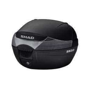 バイク リアボックス ハードケース SHAD SH33 リアボックス 無塗装ブラック  【取り寄せ】 dream-japan