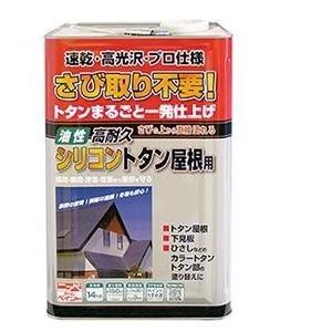(取寄) ニッペ さび取り不要!高耐久シリコントタン屋根用 14kg 色選択(赤さび・チョコレート・...