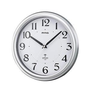 MAG(マグ) 電波壁掛け時計 アストル 銀メタリック W-649 SM-Z ABL|dream-realize