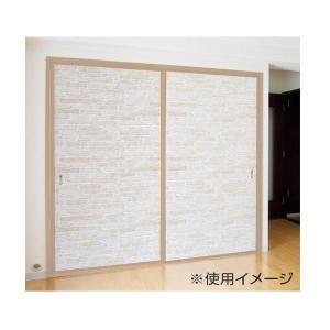貼ってはがせる! 引き戸・戸襖用デコシート 88×210cm レンガ FSD-03 ABL|dream-realize