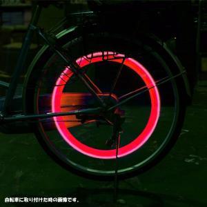 自転車/バイクなどに★目立ちます! タイヤライト2個セット 赤|dream-realize|02