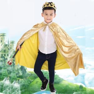ハロウィン 衣装 子供 親子コーデ リンクコーデ コスプレ 王様 王子 王冠とステッキ付き マント 男の子 女の子 子ども 発表会 仮装 パーティー インスタ映え SNS|dream-realize