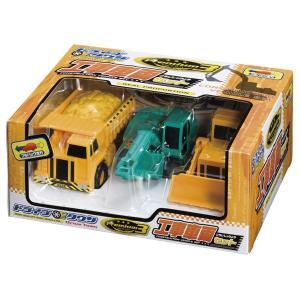 ドライブタウン 工事車両3台セット プルバックカー ミニカー 自動車 おもちゃ|dream-realize