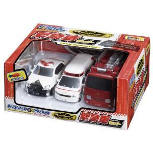 ドライブタウン 緊急車 3台セット パトカー 救急車 消防車 プルバックカー ミニカー 自動車 おもちゃ|dream-realize