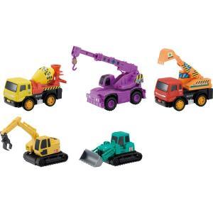 ドライブタウン 工事中セット 工事車両5台セット ミニカー プルバックカー 自動車 おもちゃ|dream-realize