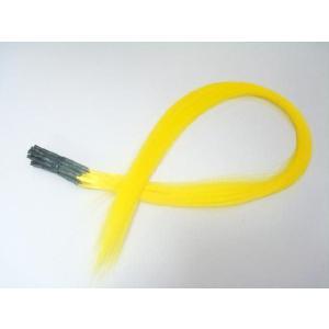 チップ式メッシュカラーエクステ ポイントメッシュ イエロー 20本セット 黄色 ウィッグ・エクステンション・つけ毛・コスプレ|dream-realize