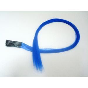 チップ式メッシュカラーエクステ ポイントメッシュ ブルー 20本セット 青 ウィッグ・エクステンション・つけ毛・コスプレ|dream-realize