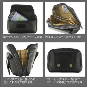 ベルトポーチ 横型 メンズ 牛革 ベルトバッグ 本革 ウエストポーチ バッグ メンズ 日本製 かばん BLAZER CLUB 25649|dream-realize|02