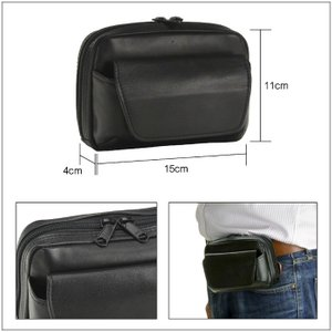 ベルトポーチ 横型 メンズ 牛革 ベルトバッグ 本革 ウエストポーチ バッグ メンズ 日本製 かばん BLAZER CLUB 25649|dream-realize|03