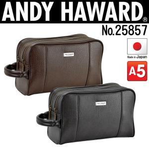 セカンドバッグ メンズ おしゃれ 50代 40代 30代  セカンドポーチ メンズ  A5 日本製 ANDY HAWARD 25857|dream-realize