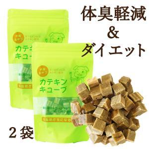 ドッグフード お試しセット 犬用おやつ カテキンキューブ 100g 2袋セット 国産 1000円ポッキリ|dream-realize