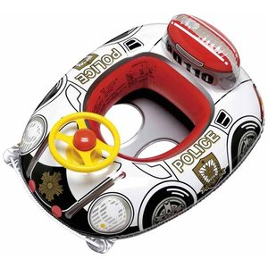 うきわ 浮き輪 子供用 浮輪 スーパーポリス ハンドル付足入れボート ベビーボート 浮き輪 浮輪 うきわ ウキワ 幼児用 1.5から3歳未満|dream-realize