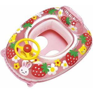 うきわ 浮き輪 子供用 浮輪 どうぶついちご ハンドル付足入れボート ベビーボート 浮き輪 浮輪 うきわ ウキワ 幼児用 1.5から3歳未満|dream-realize