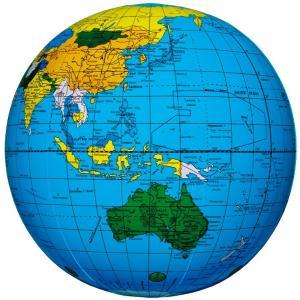ビーチボール 地球儀ボール ブルー