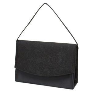 フォーマルバッグ 結婚式 葬式 葬儀 黒 花柄デザイン レディース 50代 40代 30代 婦人用 女性 冠婚葬祭 4222|dream-realize