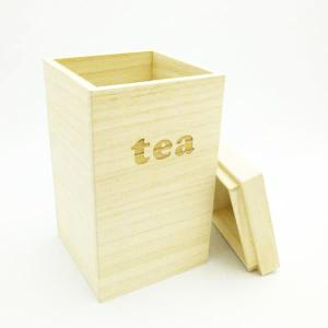 桐で作ったお茶葉ケース 緑茶や紅茶などのお茶の保管箱|dream-realize