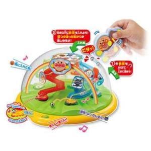 アンパンマン やみつき知育 天才脳ピタころドーム  マグネットスティックを使って6つの穴に鉄球を運ぶ...