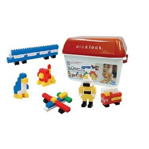 ダイヤブロック 基本セット BASIC250 お片づけに便利な容器入り入門用セット 3歳〜 おもちゃ・知育玩具|dream-realize