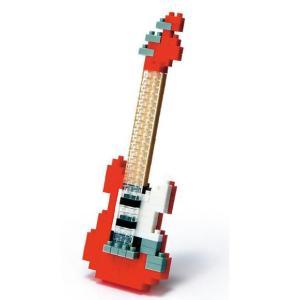 ナノブロック エレキギター レッド 【nanoblock/nanoブロック/マメログ/mamelog/ダイヤブロック】 おもちゃ・知育玩具 dream-realize