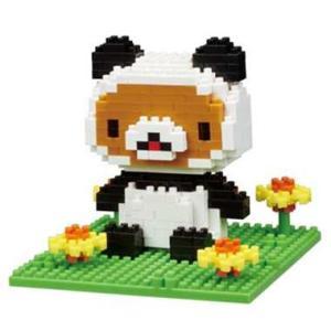 ナノブロック リラックマパンダでごろん   nanoblock おもちゃ 知育玩具|dream-realize