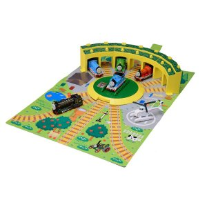トミカ トーマス おもちゃ 男の子 3歳 4歳 つながる立体マップ 機関庫と転車台セット きかんしゃトーマス 知育玩具|dream-realize